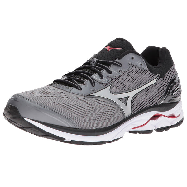 MIZUNO Mens Wave Rider 21 Quiet Shade/Silver Running Shoes (410972-9I73)