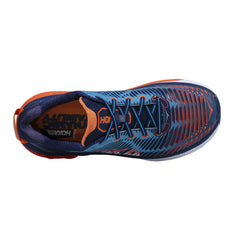 HOKA ONE ONE Arahi Medieval Blue, Red Orange Road Running Shoes (1016258-MBRO)
