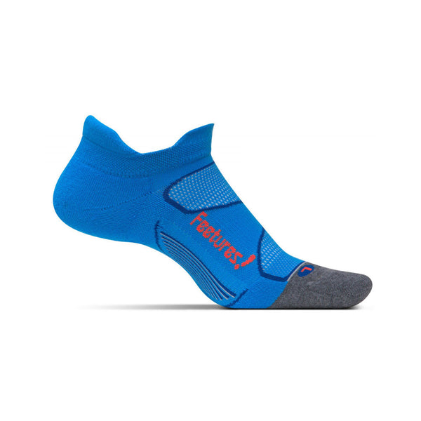 FEETURES Elite Max Cushion Unisex Bright Blue/Lava Running Socks (EC50074)