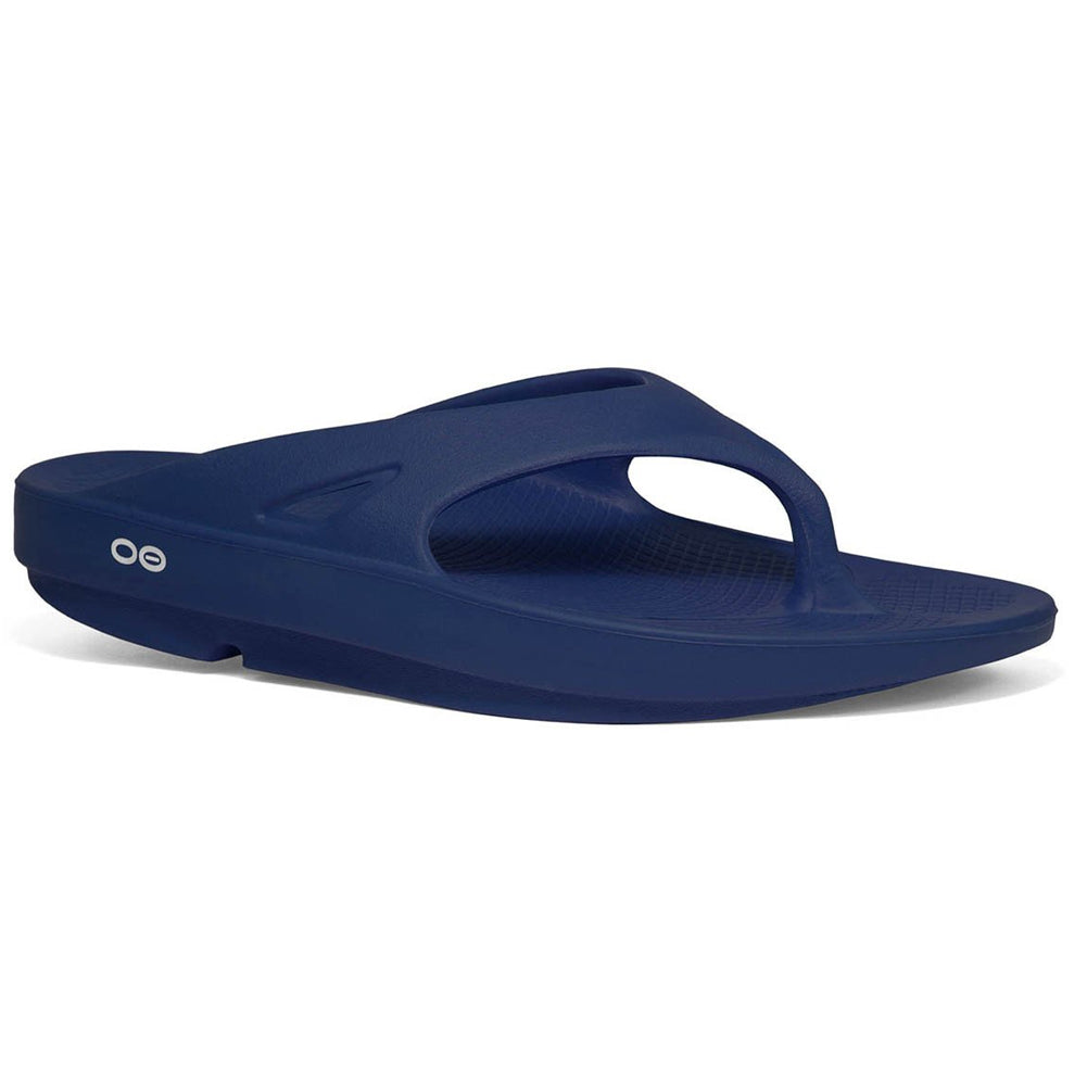 OOFOS OOriginal Thong Unisex Navy Recovery Sandals (1000NVY)