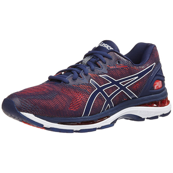 12e19bce36 ASICS Mens Gel-Nimbus 20 Indigo Blue Indigo Blue Red Running Shoes (