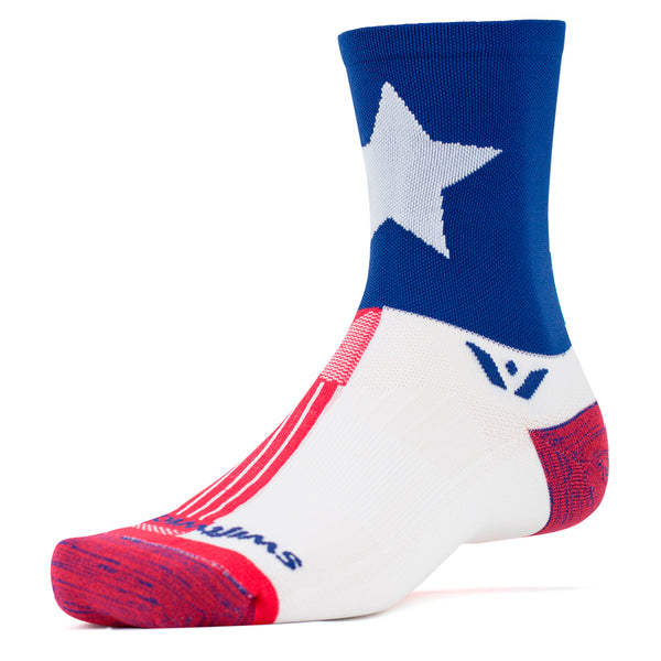 Swiftwick Vision Five Texas Pride Running Socks (5EG28ZZ)