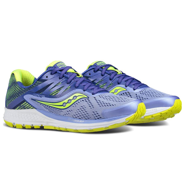 SAUCONY Women's Ride 10 Purple Blue Citron Running Shoe (S10373-1-500)