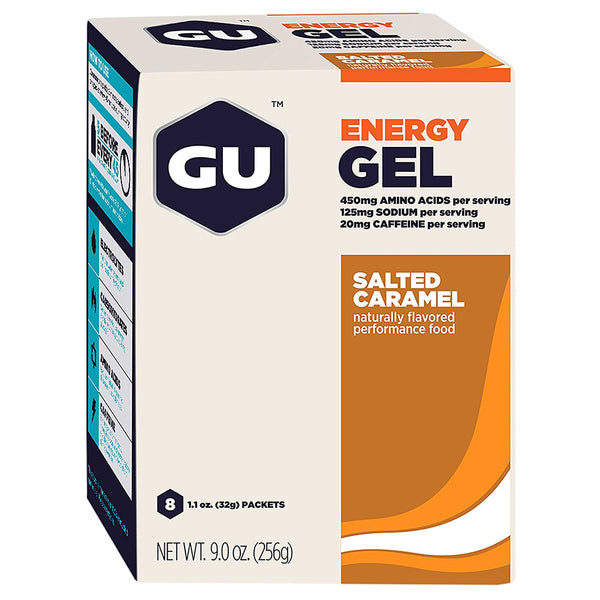 GU ENERGY Original Sports Nutrition Salted Caramel 8-Pack Energy Gel (123037)