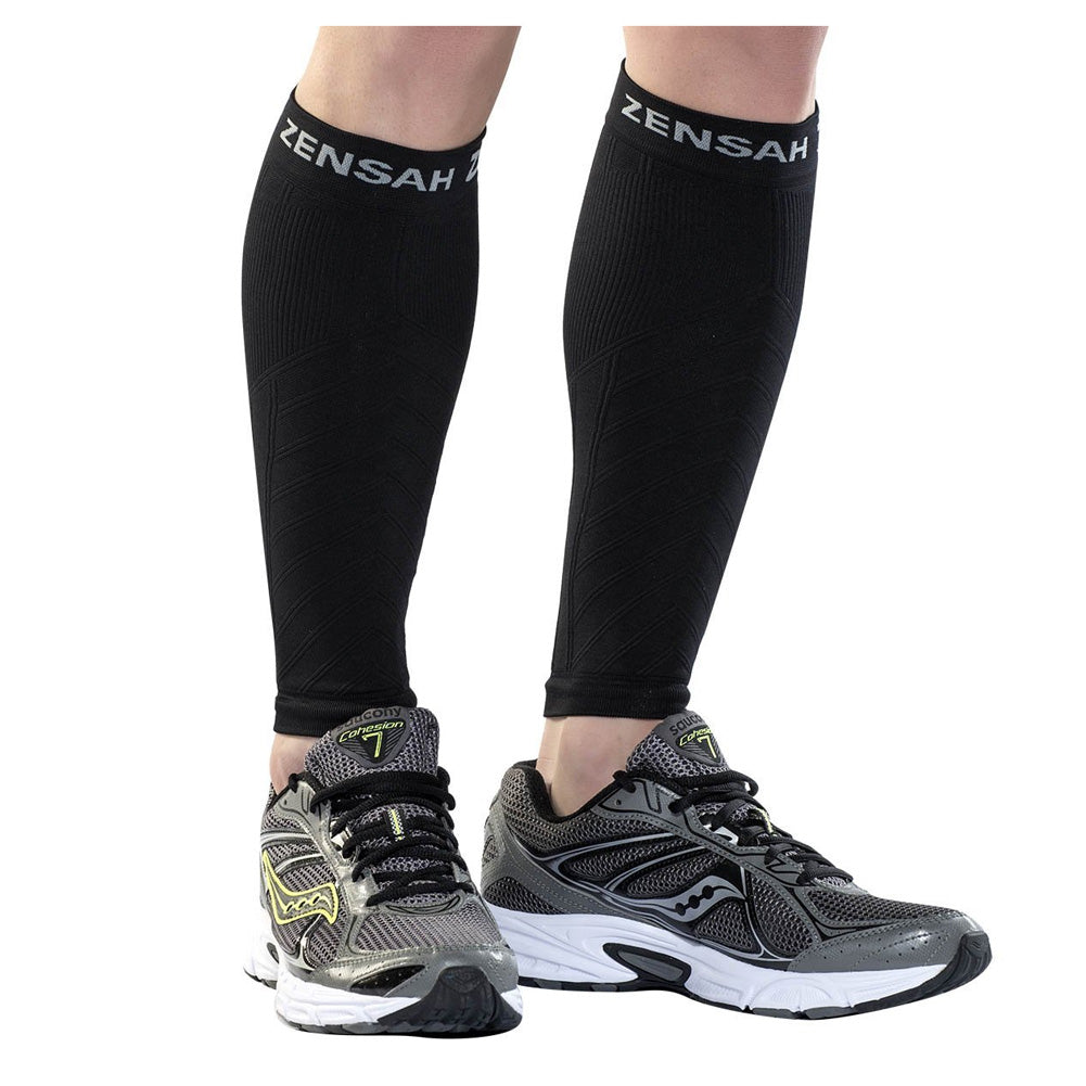 ZENSAH Compression Black Leg Sleeves (6055-100)