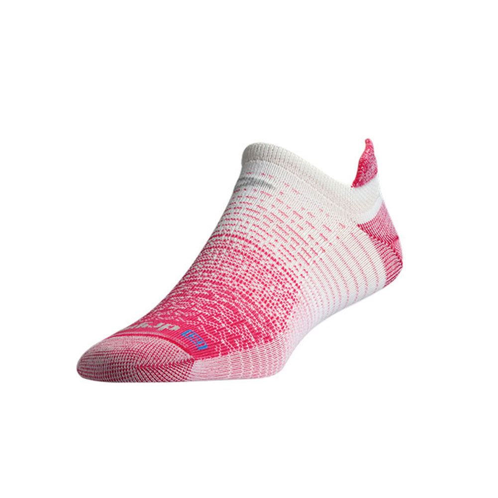 DRYMAX Thin Unisex No Show Tab October Pink/White Running Socks (DMX-RUN-1379-P)