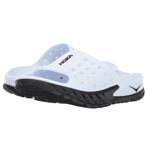 HOKA ONE ONE Women's Ora Recovery Slide Black White Sandal (1014865-BWHT)