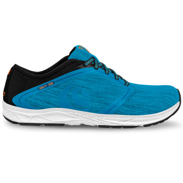 TOPO ATHLETIC Mens ST-3 Blue/Black Running Shoe (M026-BLUBLK)