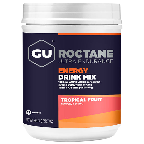 GU ENERGY Roctane Ultra Endurance Tropical Fruit 12 Serving Canister Energy Drink Mix (123124)