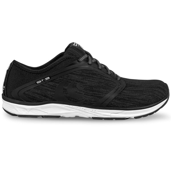 TOPO ATHLETIC Womens ST-3 Black/Grey Running Shoe (W026-BLKGRY)