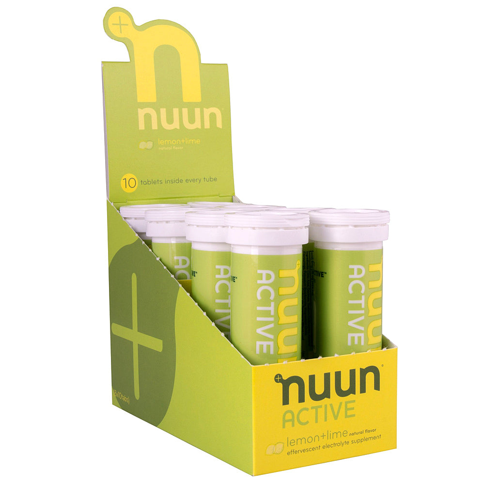 NUUN Active Lemon Lime Box of 8 Tubes Electrolyte Tablets (1160108)