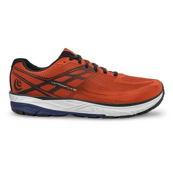 TOPO ATHLETIC Mens Ultrafly 2 Orange/Navy Running Shoe (M024-ORGNAV)