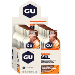 GU ENERGY Original Sports Nutrition Chocolate Peanut Butter 24-Pack Energy Gel (123042)