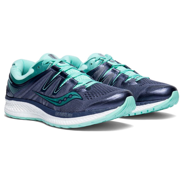 SAUCONY Women's Hurricane ISO 4 Grey Aqua Running Shoe (S10411-35-020)
