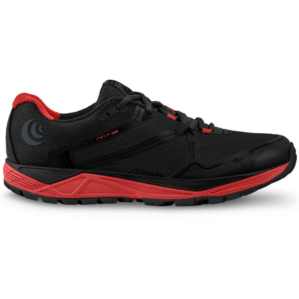 TOPO ATHLETIC Mens MT-3 Black/Red Running Shoe (M031-BLKRED)
