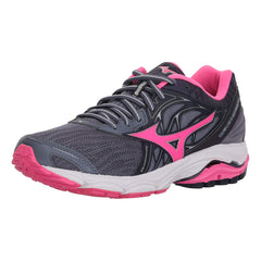MIZUNO Womens Wave Inspire 14 Folkstone Gray / Pink Glo Shoes (410985-9F1Q)