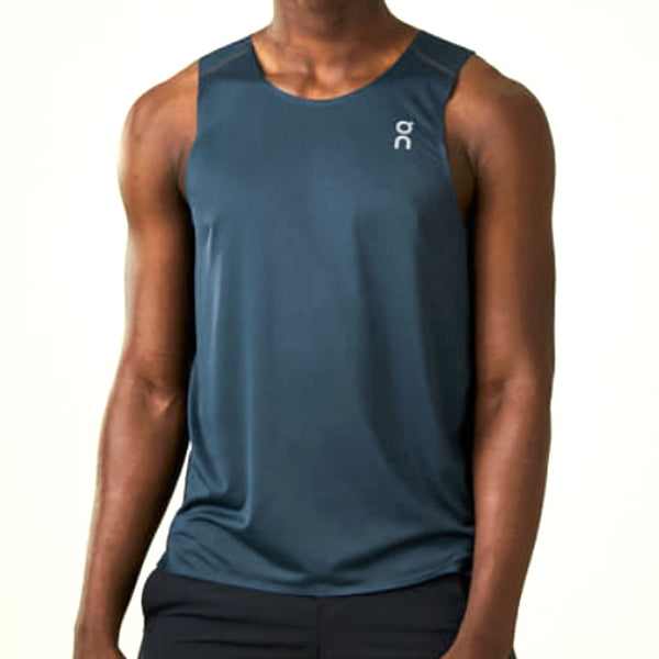 ON FOOTWEAR Mens Tank-T Navy/Black Shirt (108.4110)