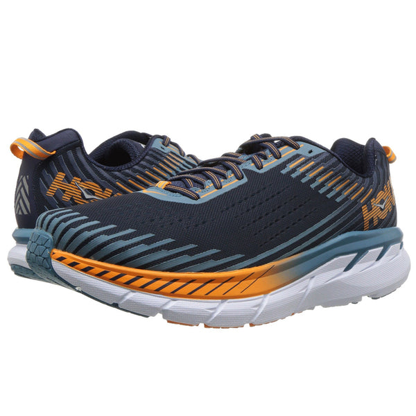 HOKA ONE ONE Men's Clifton 5 Black Iris Storm Blue Shoe (1093755-BISB)
