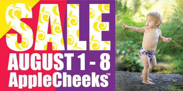 AppleCheeks On Sale Aug. 1-8 + Purple Rain Mini Minis and Mega Zips