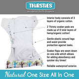 Thirsties Natural One Size All In One