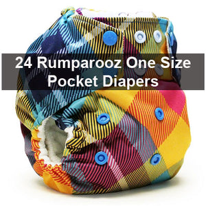 Rumparooz One Size Starter Package of 24 + Free Gifts