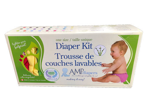 AMP One Size Diaper Kit ~Hemp~ *Ships Free*