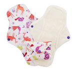 Pink Daisy ORGANIC COTTON Cloth Menstrual Pads - LARGE