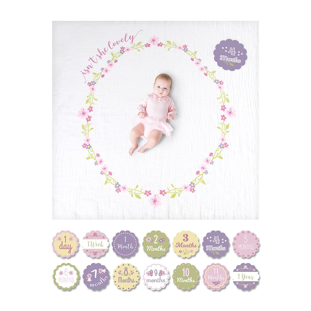 Lulujo - Baby's 1st Year Blanket & Cards Set