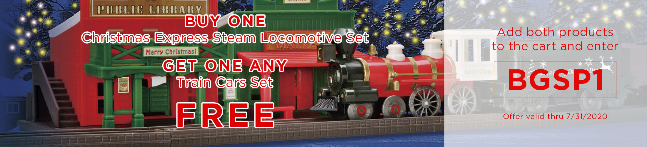 BOGO - Get one train car set free!