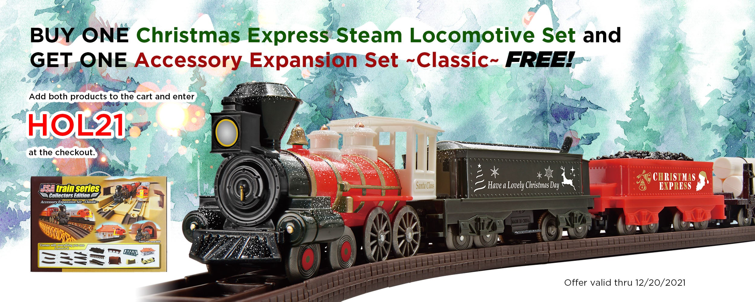 BOGO Campaign - Christmas Express Steam Locomotive Set and Acce Expansion Set ~ Classic ~