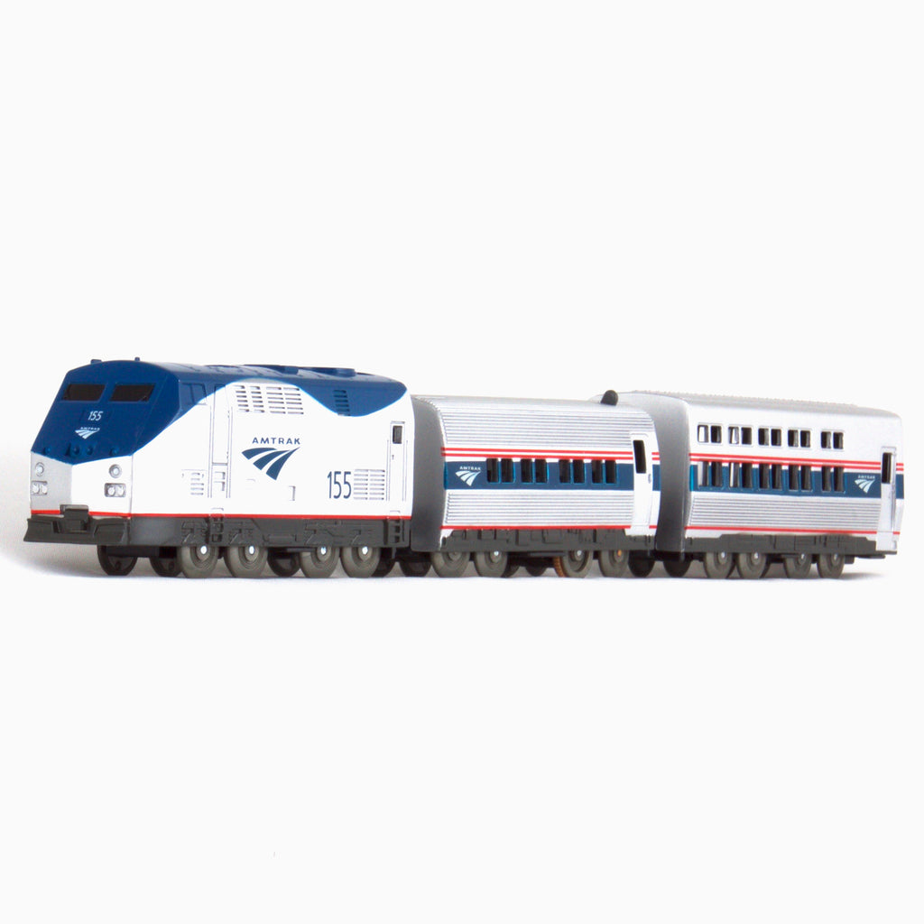 US Train Amtrak P42 & Passenger Cars Toy Train Set / Train Cars No.5