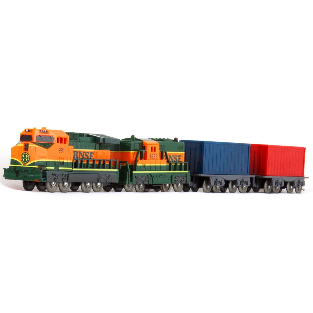 US Train BNSF GE Dash 9-44CW freight Toy Train Set / Train Cars No.3