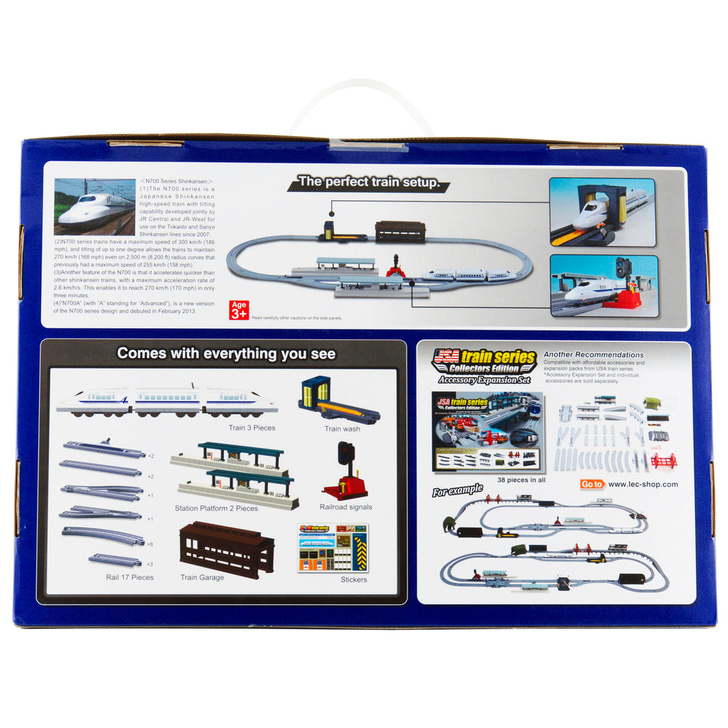 World Train Japanese Bullet Train Shinkansen N700A Toy Train Starter Set