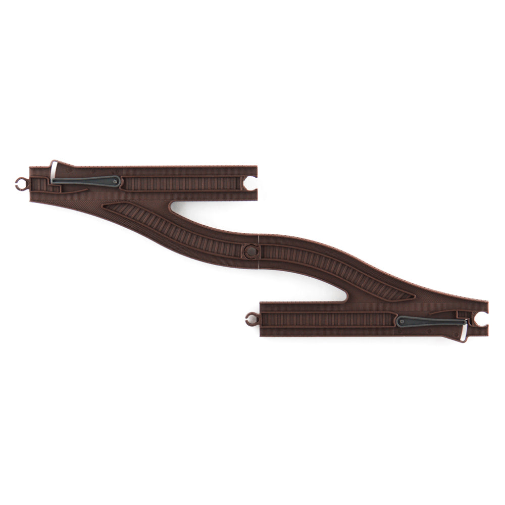 Y-shaped Straight Train Track - Brown / Track No. 13