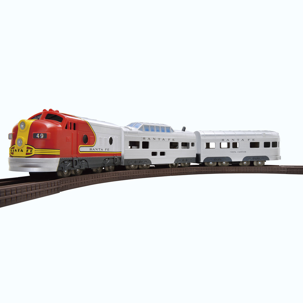 1950s Santa Fe F7 Super Chief Train Set