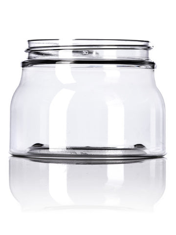 8 oz Clear PET Tuscany Jar with lid 70-400