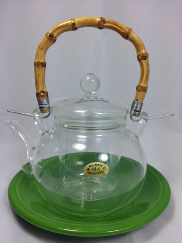 Glass Tea Pot With Bamboo Handle 600 ml