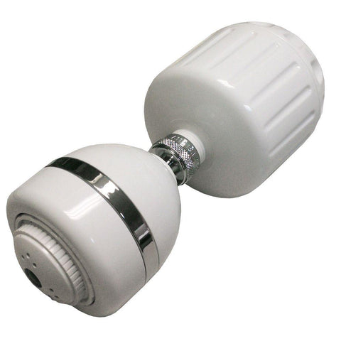 High-Output 3-Spray 4 in. Fixed Shower Head with Filter in White BUY ONE GET ONE FREE