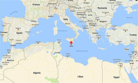 a map showing the location of Malta - google maps