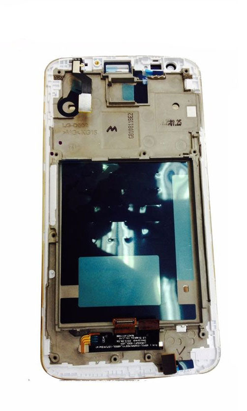 LCD & Touch Screen Digitizer Assembly with Frame for LG Optimus G2 D802 White