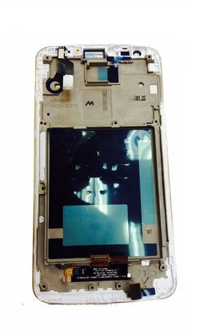 Image of LCD & Touch Screen Digitizer Assembly with Frame for LG Optimus G2 D802 White