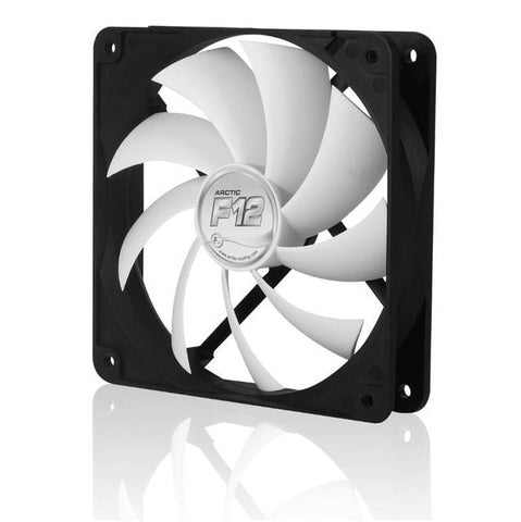 Image of Arctic Cooling F12 120mm Arctic Low Noise Case Fan (Black / White)
