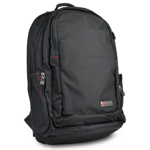 ECBC Javelin Nylon Laptop Daypack Backpack w/Security Fast Pass - Fits up to 17 Laptops (Black) - B7102-10