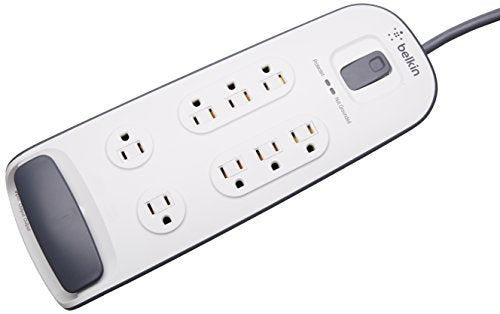 Belkin BV108200-06 6 Foot Power Cord 8 Outlet Surge Protector with RJ11