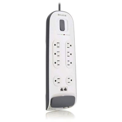Image of Belkin BV108200-06 6 Foot Power Cord 8 Outlet Surge Protector with RJ11