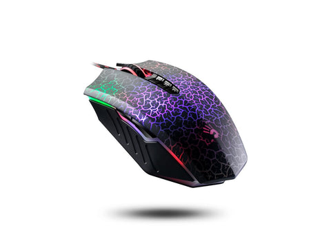 Bloody A70 Wired Light Strike Neon Gaming Mouse, USB Black with Metal Feet
