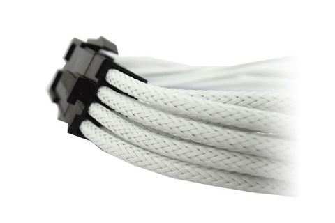 Image of GeLid CA-8P-02 White 8-pin EPS 12V UV-Reactive Sleeve 300mm Cable