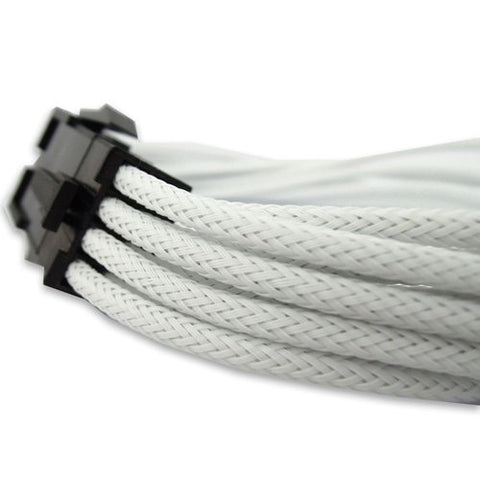 GeLid CA-8P-02 White 8-pin EPS 12V UV-Reactive Sleeve 300mm Cable