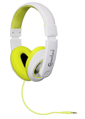 Syba Over-the-Head DJ-Style Headphones (White/Lime)