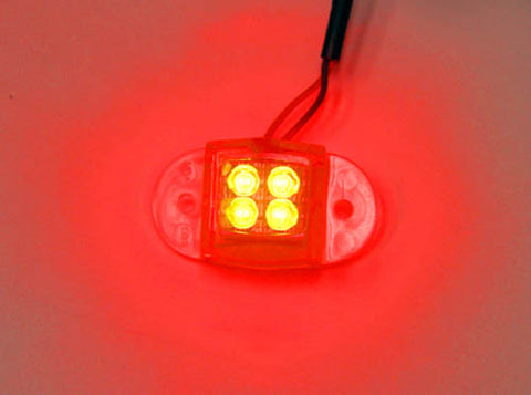 Image of Logisys MDLED4RD 12V Water Resistant Quad LED Light (Red)